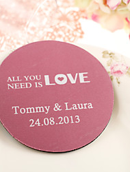 Personalized Wedding Coasters - All You Need is Love(Set of 4)