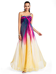 Formal Evening/Prom/Military Ball Dress Plus Sizes A-line/Princess One Shoulder Floor-length Chiffon