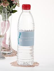 Acqua Bottiglia personalizzata Sticker - Infradito (blu / Set di 15)