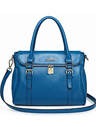 Nucelle Blue Cow Leather Embossing Shoulder Bag/Tote
