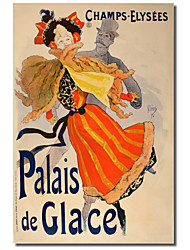 Printed Canvas Art Vintage Palais de Glace by Vintage Posters with Stretched Frame