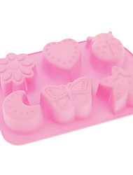 Cartoon Life Theme Silicone Cake Pudding Mould