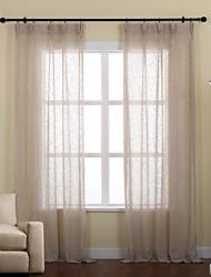 Dois Painéis Tratamento janela Rústico / Moderno / Neoclassicismo / Rococó / Europeu / Designer , Sólido Sala de EstarMistura de Linho e
