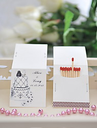 Wedding Décor Personalized Matchbooks - Pretty Cake (Set of 25)