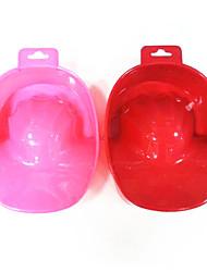 1PCS Pulver Nail Art Hand entfernen Wäsche tränken Schüssel Tool (zufällige Farbe)