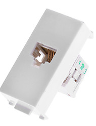 RJ11 Extender Wall Plate - Single Port (1P) RJ11 to Lead for Telephone