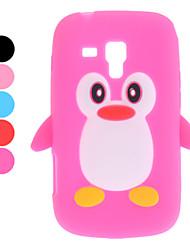 Conception 3D Soft Case Motif pingouin pour Samsung Galaxy Evolution Duos S7562 (couleurs assorties)