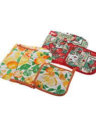 Fruits Pattern 75x55cm Schürze mit Topflappen & Backofen Mitten Set (zufällige Farbe)