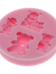 3D Bears Shaped Silicone Cookie Biscuit Mold
