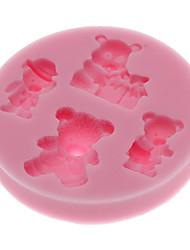 Медведи 3D формы силиконовые Cookie печенье Mold