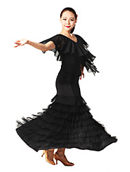 Ballroom Dance Outfits Women's Training Tulle / Viscose Natural