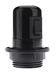 E27 Black color Base Bulb Socket Lamp Holder with Switch (4A,250V)