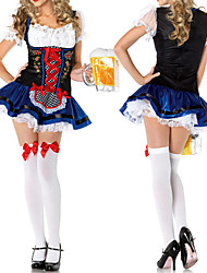 Cosplay Costumes / Party Costume Maid Costumes / Oktoberfest/Beer Festival/Holiday Halloween Costumes Blue Lace DressHalloween / Carnival