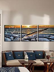 moderno alba orologio da parete in stile tela 3pcs