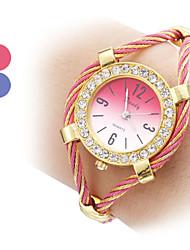 Elegent Women's Fashionable Steel Analog Quartz Bracelet Watch (Assorted Colors)