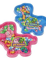 Nette Karikatur-Dinosaurier-Shaped Eraser Set (zufällige Farben)