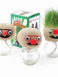 DIY Growing Grass Planting Head Doll(Random Pattern)
