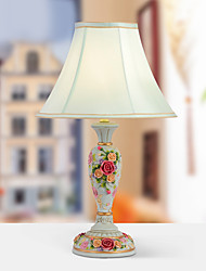 European-Style Rustic Modern Table Lamp Decorated With Rose