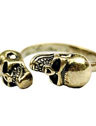 Vintage Ring Skull Pattern