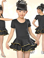 Dancewear Beautiful Spandex With Satin Sequins Latin Dance Dress For Children