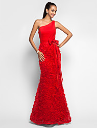 TS Couture® Formal Evening / Military Ball / Prom Dress - Ruby Plus Sizes / Petite Trumpet/Mermaid One Shoulder Floor-length Chiffon / Lace
