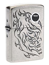 Zippo Flame Pattern Gray Oil Lighter