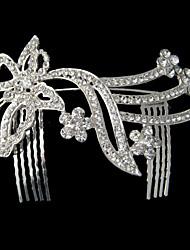 Women's Rhinestone/Alloy Headpiece - Wedding/Special Occasion Tiaras/Hair Combs