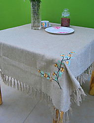 Imitation Linen Check Square Table Cloth