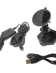 "Mini 1.5 ""TFT 5.0MP Wide Angle Car Camcorder DVR com IR de 12 LED Night Vision"