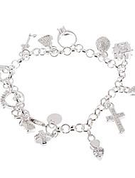 Charm pierre 925 Bracelet plaqué