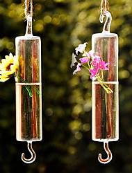 Table Centerpieces Artistic Hanging Tube Shaped Glass Vase  Table Deocrations