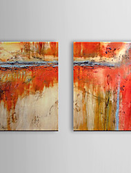 Hand Painted Oil Painting Abstract Set of 2 1307-AB0493