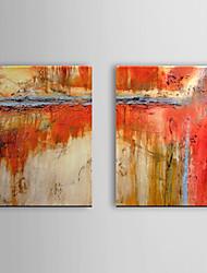 Peint à la main peinture à l'huile abstraite Set de 2 1307-AB0493