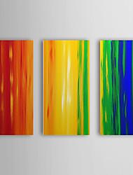 Handgemaltes Ölgemälde Abstrakt mit gestreckten Rahmen von 3 1307-AB0403 Set