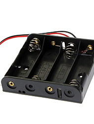 4 x AA Battery Case Holder with Leads for (For Arduino) - Black