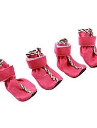 Gatos / Cães Sapatos e Botas Vermelho / Azul Primavera/Outono AlgodãoCão Sapatos