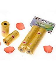 Dog Poop Dispenser Bag Pack of 2 Rolls (Assorted Colors)