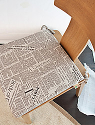 Retro Newspaper Design Chair Pads