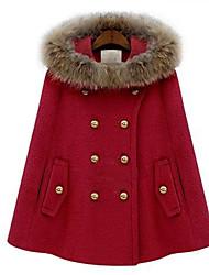pinklady manteau de fourrure manteau à capuche