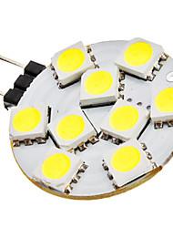G4 1.5W 9x5050SMD 90-120LM 6000-6500K luz blanca natural del punto del bulbo del LED (12V)