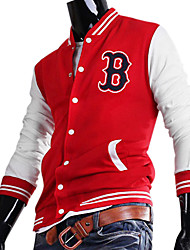 "Men's Cotton ""B"" Pattern Baseball Uniform(Red)"