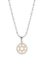 Fashion Titanium Steel six branches collier d'étoile