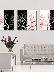 Stretched Canvas Art Botanical Tree Branches Set of 3