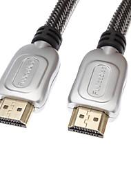 HDMI v1.4 черный 1080p с Ethernet высокоскоростной кабель Вт / ферритовыми сердечниками (3м)