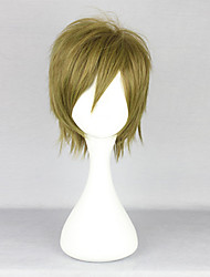 Cosplay Wigs Free! Makoto Tachibana Brown Short Anime Cosplay Wigs 35 CM Heat Resistant Fiber Male