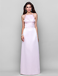 Formal Evening/Military Ball Dress - Blushing Pink Plus Sizes Sheath/Column Square/Spaghetti Straps Floor-length Satin