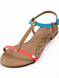 Specific Leatherette Flat Heel Sandals with Buckle Party\Casual Shoes
