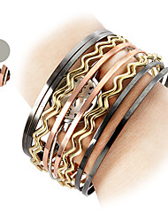 Mulheres Quartz Banda Bracelete Prata / Cores Múltiplas marca-