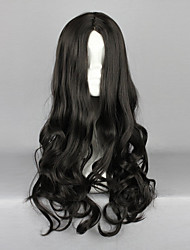 Gyaru Preto 50 centímetros clássico Lolita peruca