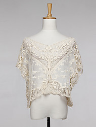 Women's Lace Crochet Cape Sleeve Loose Outwear